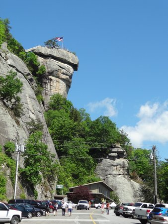 Chimney Rock State Park: view from the parking lot
