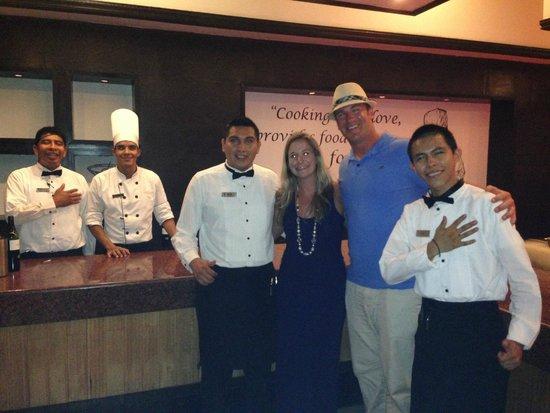 The Royal Playa del Carmen : Chef Plate Staff!