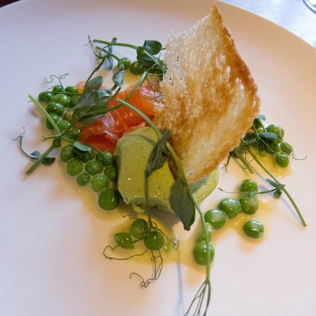 The Peacock at Rowsley: Salmon and avocado starter