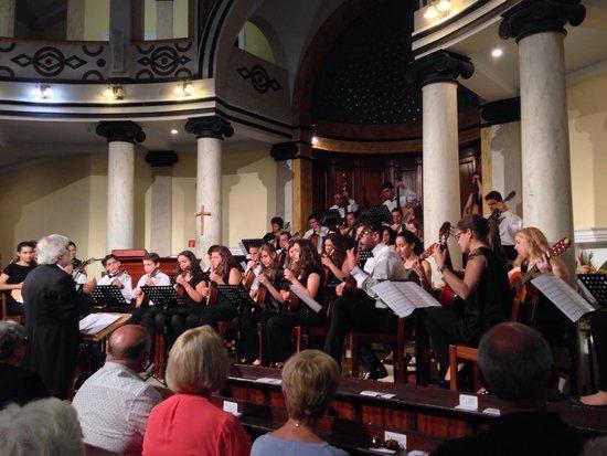 Madeira Mandolin Orchestra : June 2014 at the English Church, Funchal.