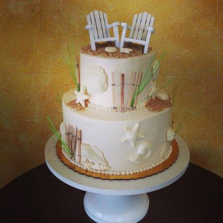Northern Lights Bakery: Beach Theme Wedding Cake