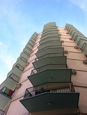 Aston Waikiki Circle Hotel : Disabled parking looking up