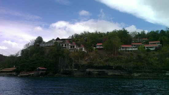 Ti Kaye Resort & Spa: View from boat