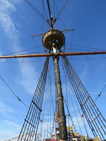 Mayflower II: The mast