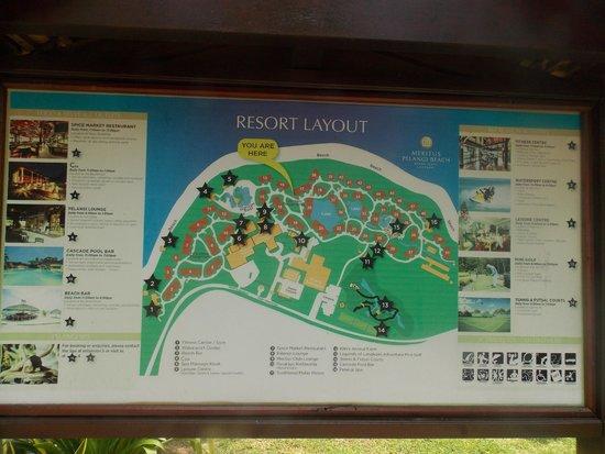 Meritus Pelangi Beach Resort & Spa, Langkawi: Map of the resort - we were no 15