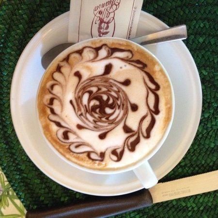 Agriturismo Podere San Lorenzo: Designer cappuccino for breakfast