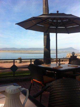 Estero Beach Hotel & Resort : view from restaurant patio.