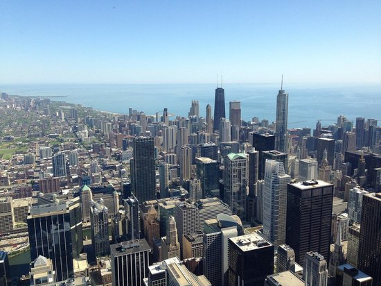 Skydeck Chicago - Willis Tower : シカゴの町並み1