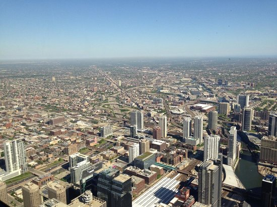 Skydeck Chicago - Willis Tower : シカゴの町並み2