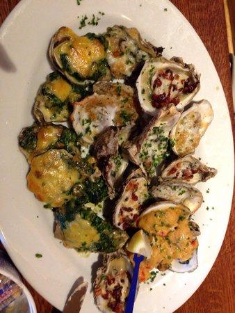 Stinky's Fish Camp : The Oyster Platter. Wonderful sampling!