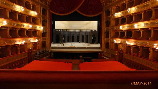 Teatro Massimo: A view of the stage from the Royal Box