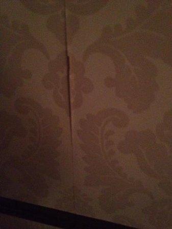 Hotel Relais Saint Sulpice : Peeling wallpaper.