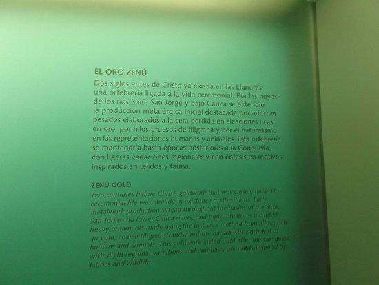 Museo del Oro Zenu : Cartagena, Colombia. Museo del Oro Zenú.
