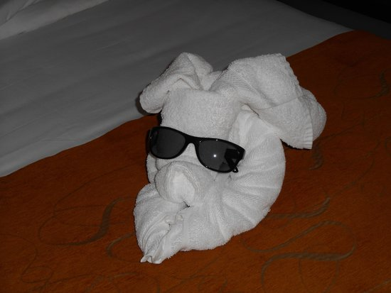 Comfort Suites Paradise Island: pig in a blanket ( towel )