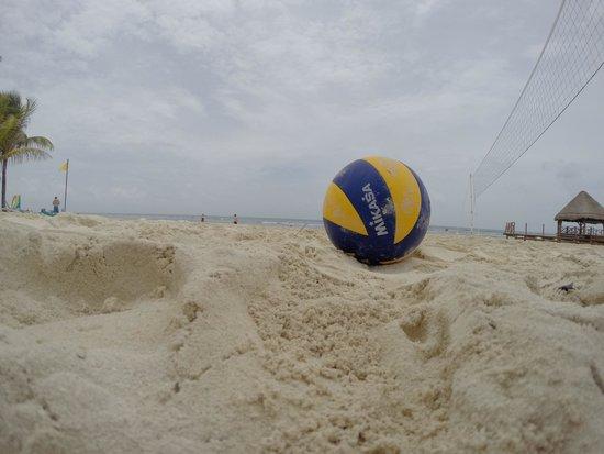 Secrets Silversands Riviera Cancun: Beach volleyball everyday at 11am!