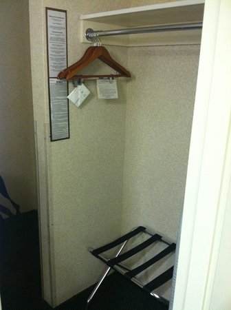 Holiday Inn - Airport Conference Center: Closet (no door)