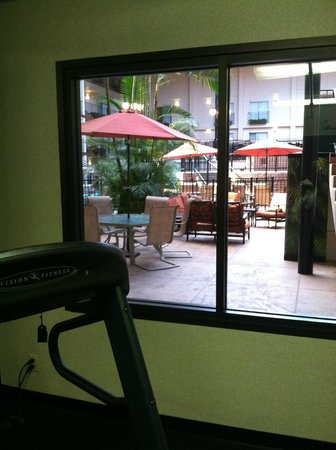 Holiday Inn - Airport Conference Center: View from workout room
