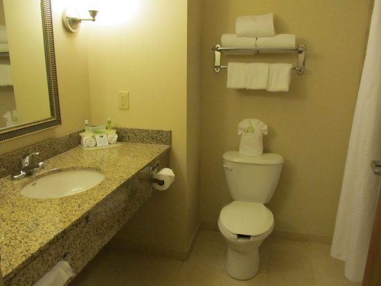 Holiday Inn Express Washington Court House: Clean bathroom-Room 105