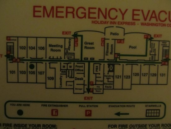 Holiday Inn Express Washington Court House: Hotel Diagram