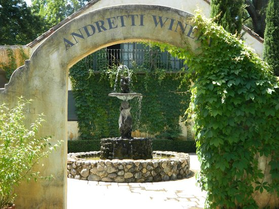 Wine Country Tour Shuttle: Andretti Winery - our lunch stop