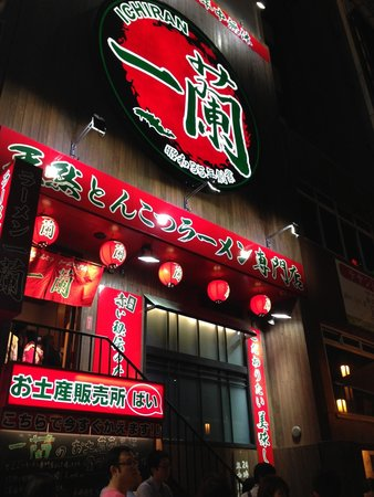 Ichiran Dotonbori : The big red sign