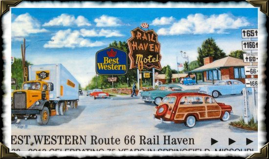 Best Western Route 66 Rail Haven: Hotel Of Yesteryear & Roomcard
