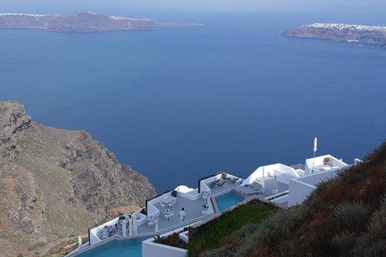 Anita's Villa - Santorini: View from the balcony