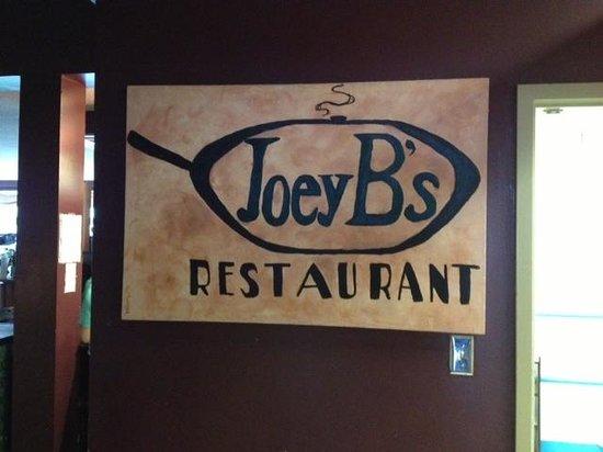 Joey B's: Restaurant front sign
