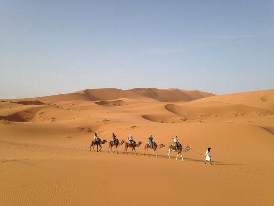 Ouarzazate Unlimited Marrakech Day Tours: Sahara desert trek by camels at sunset