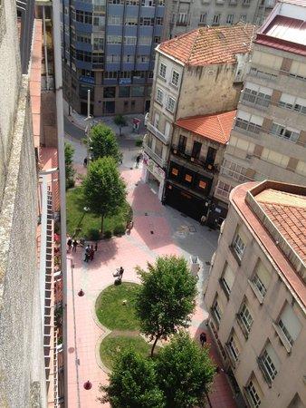 Hotel Rias Bajas: looking below