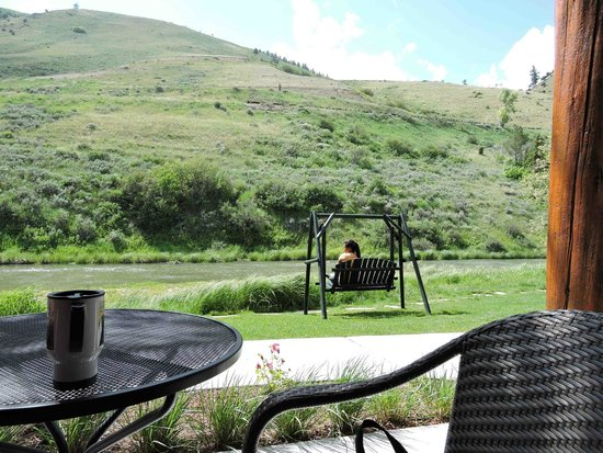 Rustic Inn Creekside Resort and Spa at Jackson Hole: View from our porch - unit #229