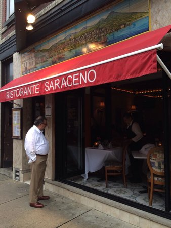 Ristorante Saraceno: Awning to look for