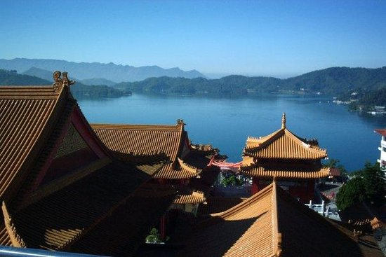 Sun Moon Lake: View from the north end of the lake