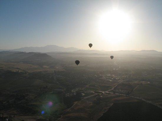 California Dreamin' Balloon Adventures : Spectacular view of the valley