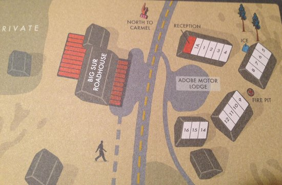 Glen Oaks Big Sur : Lodge map