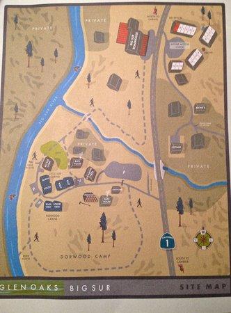 Glen Oaks Big Sur : Map of grounds