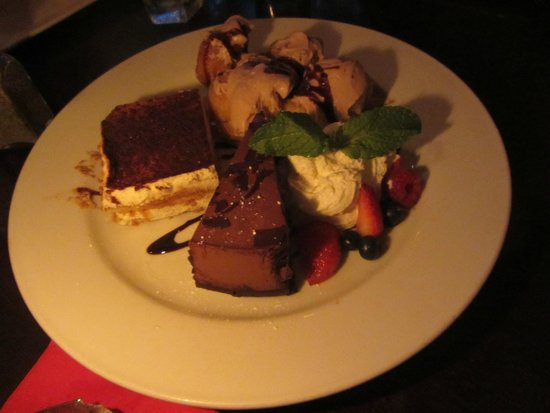 Club A Steakhouse : The complementary dessert assortment.