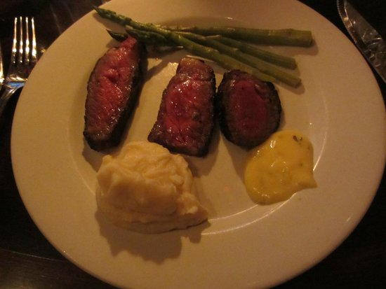 Club A Steakhouse : Our main course.
