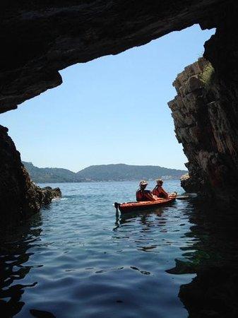 Adria Adventure Sea Kayaking: lovely cave