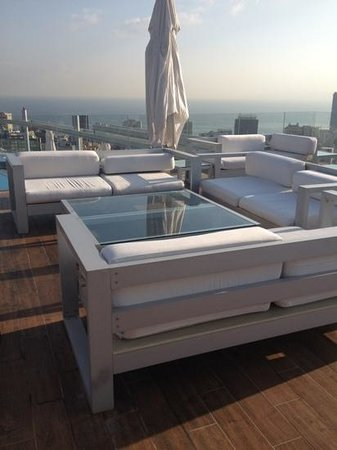 Staybridge Suites Beirut: rooftop patio for twice-weekly mix and mingle