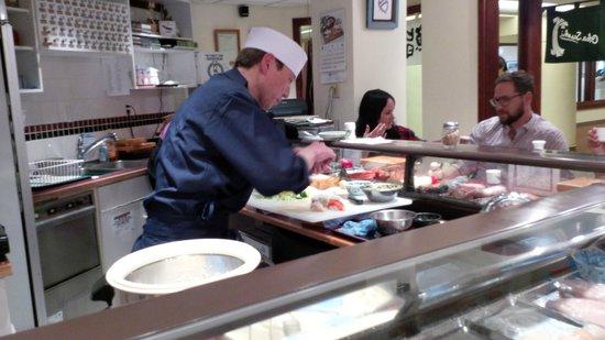 Oka Sushi: Chef Oka.