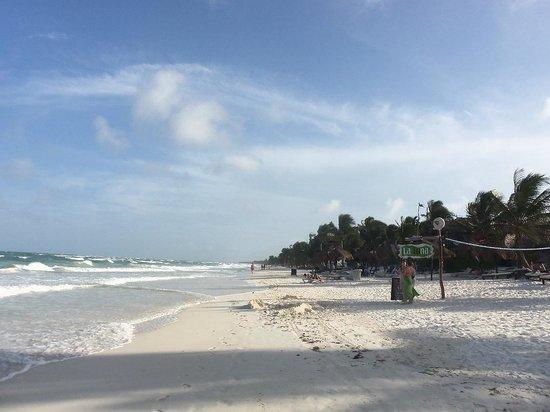 Cabanas La Luna: Beach 1