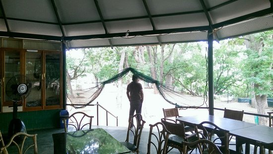Galibore Nature Camp: The manager in the canteen