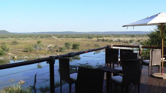 Tau Game Lodge: The water hole
