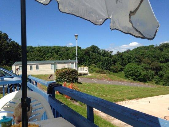 Hoburne Devon Bay: View from L9 decking