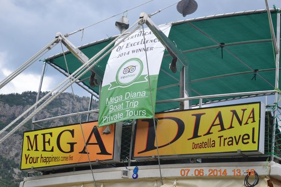 Mega Diana Boat Trip-Tours: Trip advisor topper for its good service and staff attitude