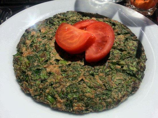 Saveurs Veget'halles : The spinach omelette - vegan!