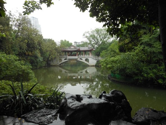 Typical scenic view in Liuhou Park