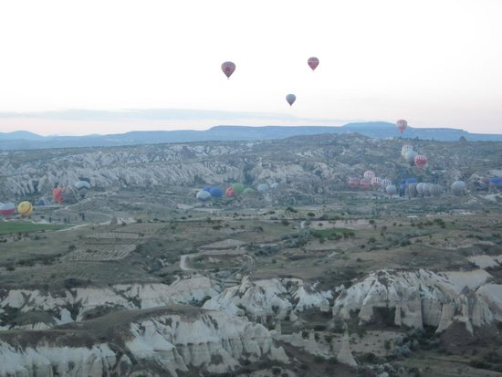Turkiye Balloons: Dawn take off - we've got this area to ourselves