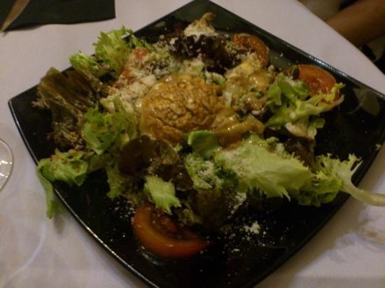 Restaurante Raco de l'abat: ensalada de queso de cabra